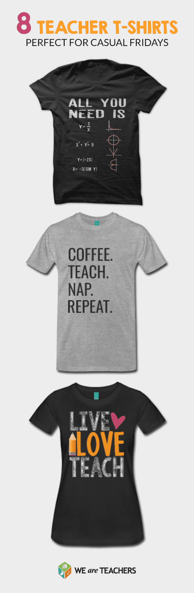 T-shirts for teachers pin