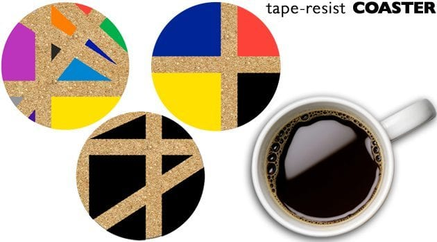 Tape-Resist-Coasters