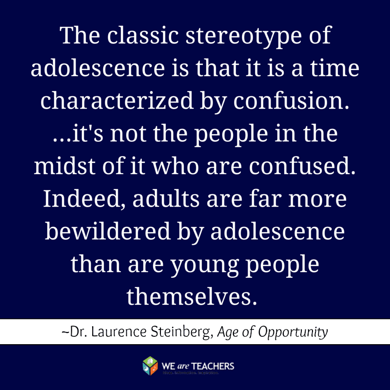The classic stereotype of adolescence is changing