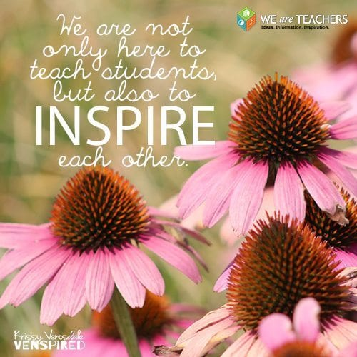 Quote: We are all here to inspire each other.