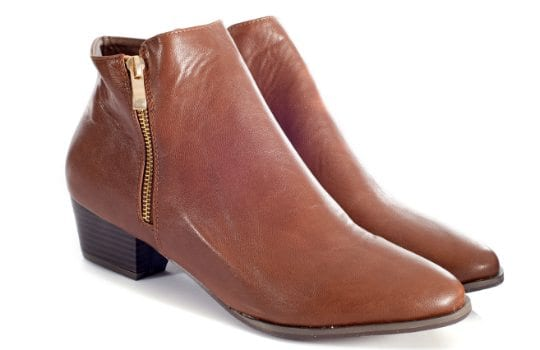 Ankle boots with stacked heel