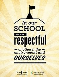 Classroom Rule Be Respectful Poster