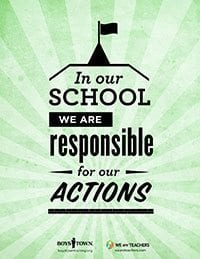 Classroom Rule Be Responsible Poster
