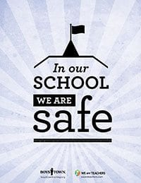 Classroom Rule Be Safe Poster