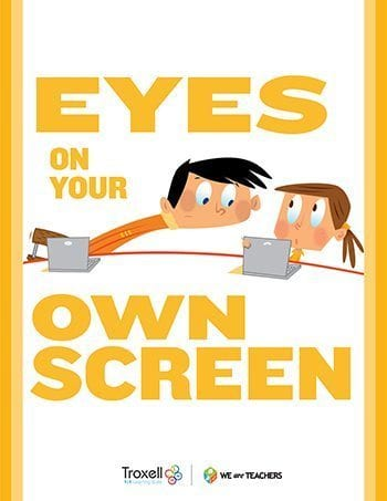 Eyes on Screen Poster