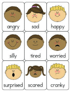 cards that show children showing emotion