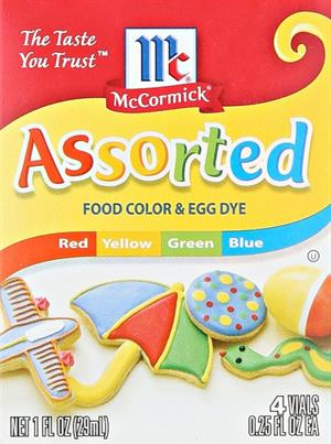 Food coloring for back to school supply lists