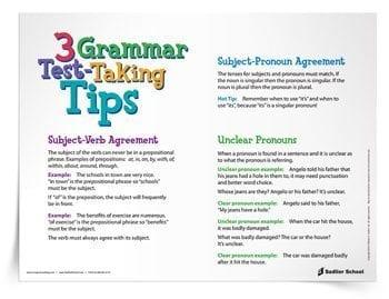 3 Grammar Test Taking Tips