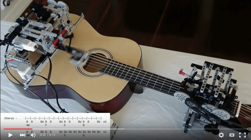 Guitar Playing Robot