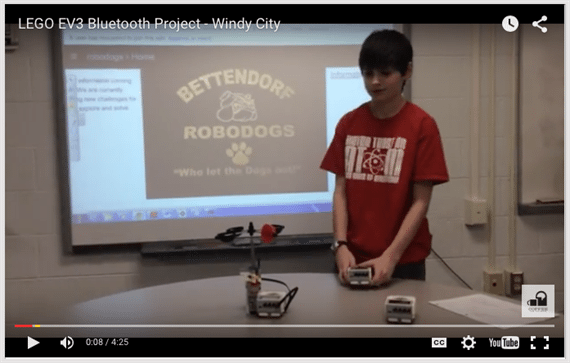 LEGO EV3 Bluetooth Project - Windy City