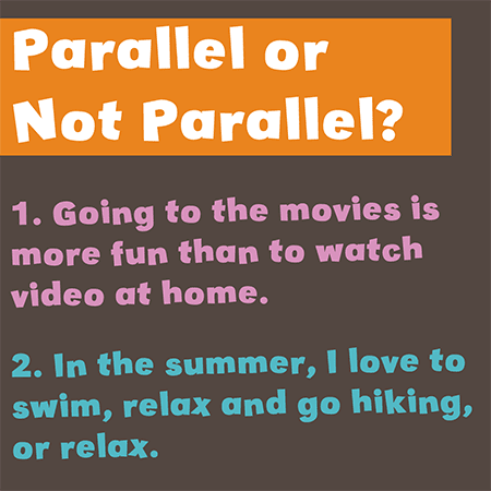 let's get parallel writing activity