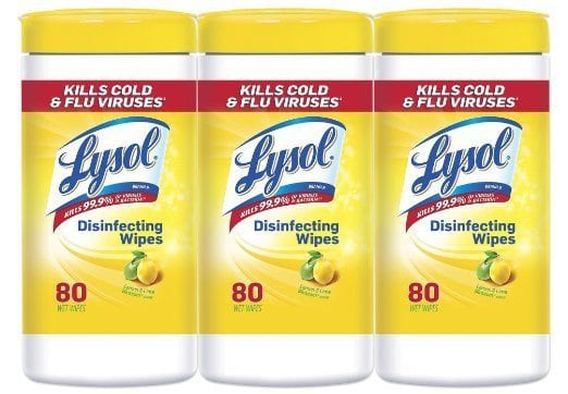 Lysol Wipes for school supply