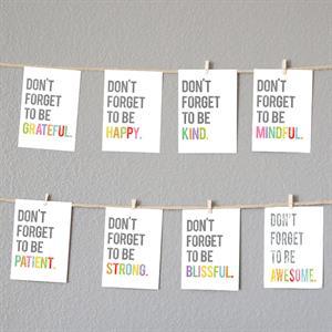 Mini-8-Piece-Dont-Forget-Inspirational-Wall-Card-Set-waldonxxx0507