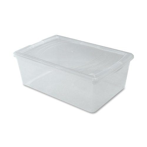 Plastic shoe box for back to school supplies
