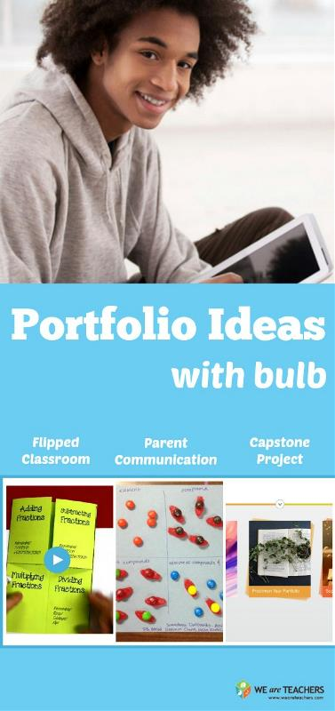 Portfolio ideas with bulb
