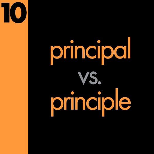 Principal vs Principle Grammar Mistake