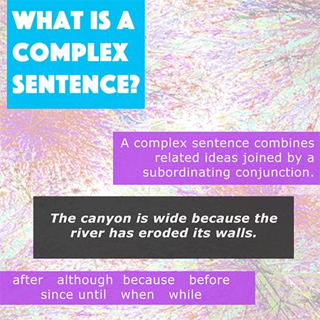 Complex Sentences Activity