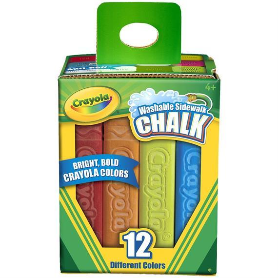 Sidewalk chalk for back to school supply lists.