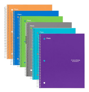 spiral notebooks