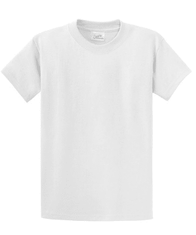 White t-shirt to decorate for back to school