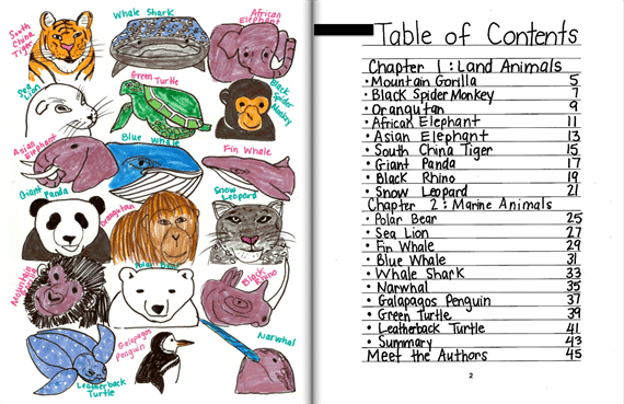 Write About Endangered Animals - 10 Ideas for Class-Made Books