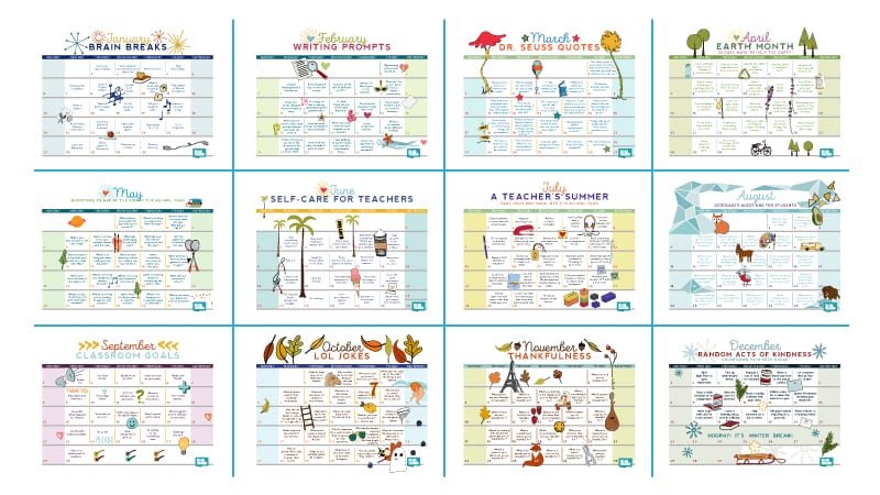 picture regarding Calendars Free Printable called Totally free Printable 2019 Instructor Calendar - WeAreTeachers