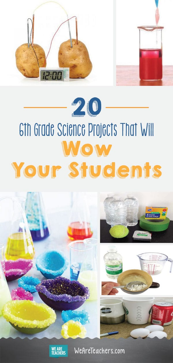 20 6th Grade Science Projects That Will Wow Your Students
