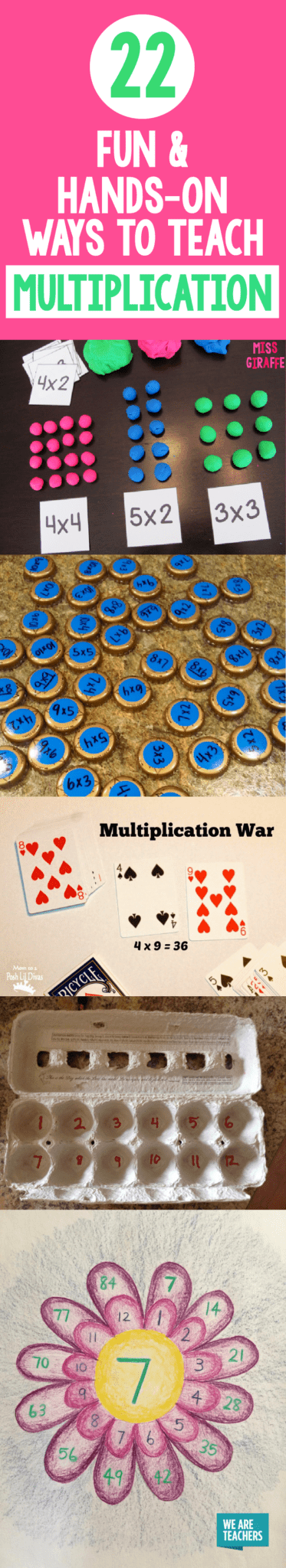22 Fun Hands On Ways To Teach Multiplication Weareteachers