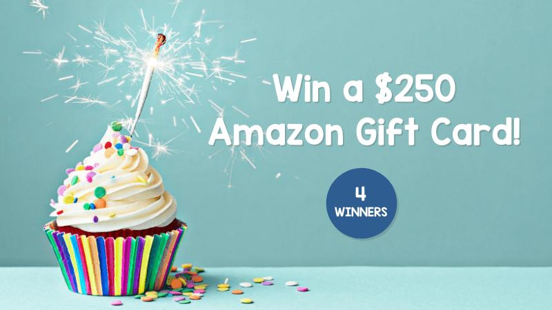 Win a $250 Amazon gift card.