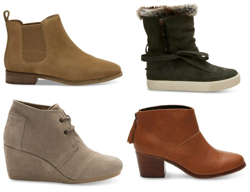 TOMS boots in multiple styles (Teacher Shoes)