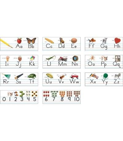 Alphabet line template
