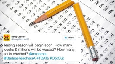 31 Teacher Tweets About Testing