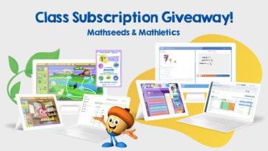 Class Subscription Giveaway! Mathseeds Mathletics