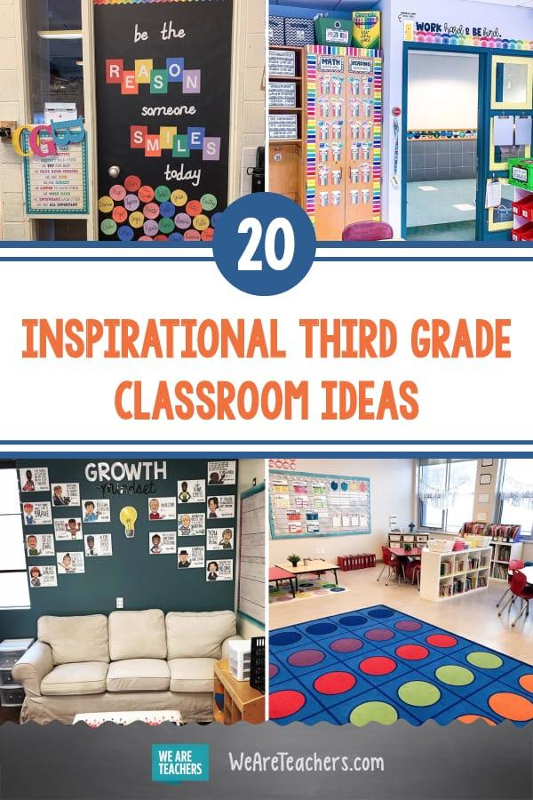 20 Inspirational Third Grade Classroom Ideas