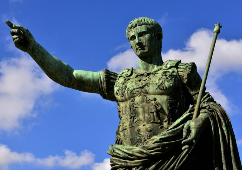 Augustus the first emperor of Rome and father of the nation