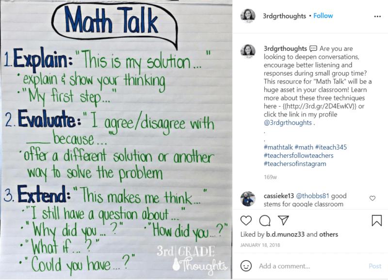 Still of Math Talk fourth grade assessment
