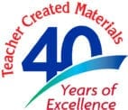 Teacher Created Materials 40 Years of Excellence Logo