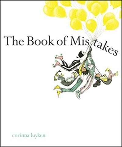 Book cover for The Book of Mistakes as an example of children's books that teach social skills