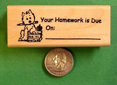 Teacher homework stamp