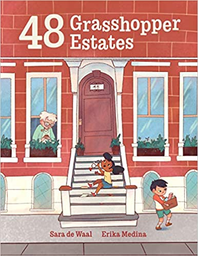 Book cover for 48 Grasshopper Estates as an example of children's books about friendship