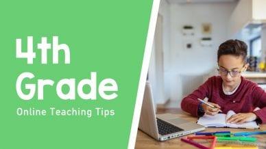 Still of student sitting at desk 4th grade online teaching tips