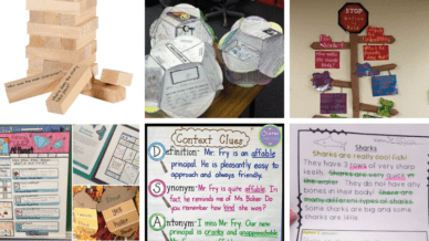 collage of fourth grade reading comprehension activities