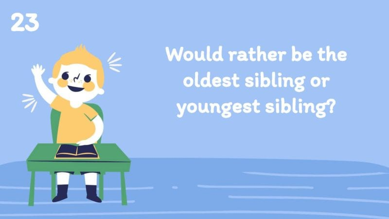 Would you rather be the oldest sibling or youngest sibling?