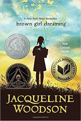 Book cover for Brown Girl Dreaming as an example of social justice books for kids