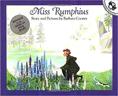 Book cover for Miss Rumphius as an example of social justice books for kids