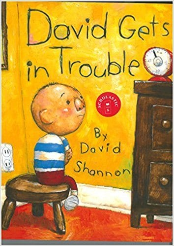 Book cover for David Gets in Trouble as an example of children's books that teach social skills