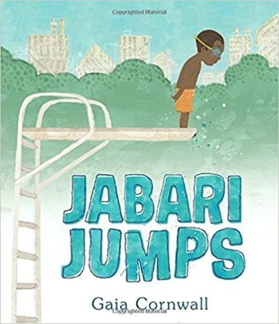 Book cover for Jabari Jumps as an example of mentor texts for narrative writing