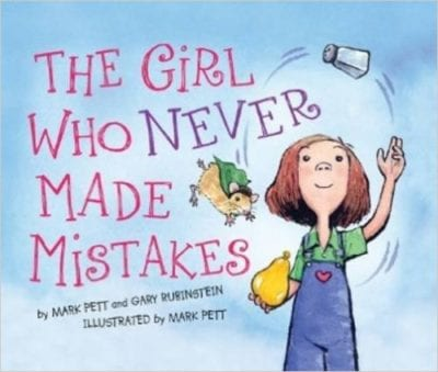 Book cover for The Girl Who Never Made Mistakes as an example of children's books that teach social skills