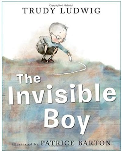 Book cover for The Invisible Boy as an example of children's books that teach social skills
