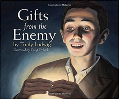 Book cover of Gifts From the Enemy as an example of social justice books for kids